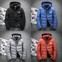 jaqueta zip completo Desconto 2020 Homens Winter Pato Branco Brasão de Down soprador The North Casacos face Down Jacket Forrado NF quente ao ar livre com capuz Baixo Colete M-3XL C102504