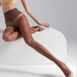 095ba4b2639 slim legs pantyhose Promo Codes - women T-crotch 40D velvet High waist wide-