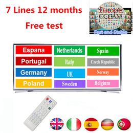 satelliten-tv kostenlos Rabatt 1 Jahr CCcam Europe 7Clines Server kostenlose Testversion Satellitenempfänger cccam cline Gültigkeit für Spanien, Frankreich, Schweden, Portugal, Großbritannien, Italien