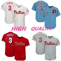 Hombres 3 Bryce Harper Cool Base Jugador Jersey Phillies Filadelfia Béisbol  Jersey recién llegado Rayas rojas Camisas rojo gris azul blanco rebajas  camisa ... 8ffd851cdaca4