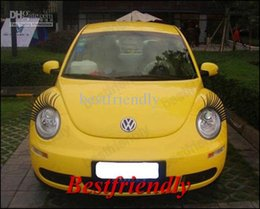Autocolantes para automóveis on-line-110PCS = 55Pairs Automotive Eyelashes Car Eye Lashes Pestana 3D Etiqueta Do Logotipo Do Carro Cílios Eye-cílios