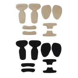 2020 kugelfußkissen 8 x High Heel Einsätze Fersengriffe Silikon Anti Rutsch Schuhkissen Ball of Foot Einlegesohlen Vorfußpolster für Schuh zu groß günstig kugelfußkissen