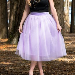 make girls tutu skirts Promo Codes - Custom Made Women Tulle Skirt Women Lavender secret Knee Length Ball Gown Girls Tutu Plus Size Tulle Skirts 5XL XXXXL