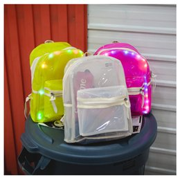 2019 mochilas de moda Moda Homens Mulheres Backpack fluorescente Cool White rosa Sports Mochilas fluorescente Wear Prático Bag Resistente Tuba New School 44qxD1 mochilas de moda barato