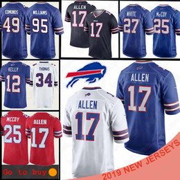 Футбольная майка lesean mccoy онлайн-Buffalo JerseyBills 17 Josh Allen 49 Tremaine Edmunds 25 LeSean McCoy 95 Кайл Williams12 Джим Келли 25 LeSean McCoy американского футбола