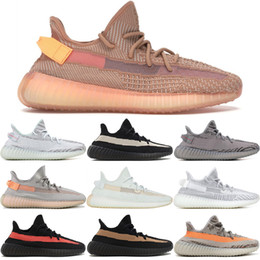 outlet store f17e2 21d4d 2019 scarpe da trekking Con scatola Adidas SPLY Yeezy 350 V2 Boost Static  Butter F36980 Blue