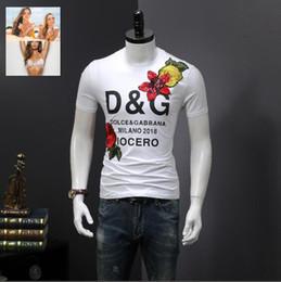 shirt in stile italiano Sconti Maglietta di cotone di marca italiana di alta qualità di estate calda di stile 2019 con t-shirt di maniche corte degli uomini di moda stampata G ## 0005