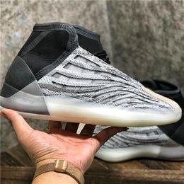 2019 scarpe da basket di kanye west Le migliori scarpe di qualità Quantum Kanye West pallacanestro Statico bianco Mid Scarpe di pallacanestro del Mens per gli uomini Kanye West Designer Shoes Sport Sneakers sconti scarpe da basket di kanye west