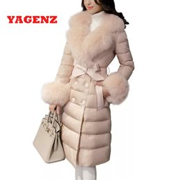 peles coreanas Desconto 2019 pato branco para baixo 95% de alta qualidade magro para baixo casaco de roupas nova coréia ms casaco de inverno gola de pele quente elegante casaco mulheres