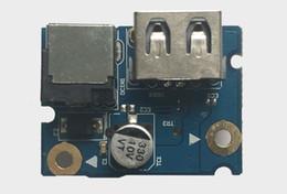 Placa de alimentação lenovo on-line-Novo laptop Peças DC jack Power Board e porta USB para Lenovo G480 G485 G580 554SG03.001G