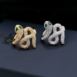 Mode europa vereinigten staaten persönlichkeit trend wilden ring eingelegten zirkon schlangenförmigen offenen zeigefingergelenk ring persönlichkeit mädchen schmuck von Fabrikanten