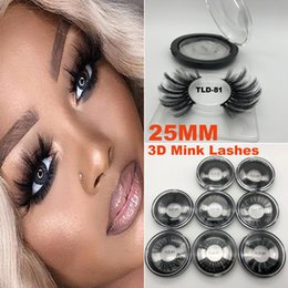 Super Long 25mm 3D 5D Cils De Vison Dramatiques Véritable Vison Cheveux Cils 25 mm À La Main Faux Cils Maquillage Des Yeux Maquiagem ? partir de fabricateur