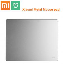 2019 tastiera originale del pc 100% originale Xiaomi metallo Mouse Pad alta qualità di lusso sottile di alluminio Computer Pad Frosted Matte laptop tastiera Xiaomi PC tastiera originale del pc economici