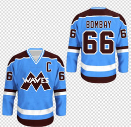 Custom Waves Gordon Bombay  66 Mighty Ducks Movie Hockey Jersey Embroidery  Stitched Customize any number and name Jerseys 4 Colors discount mighty  ducks ... dbbd2f591