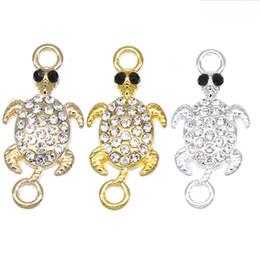 Argentina 50 piezas de plata KC conector de tortuga de oro que hace joyas de pulsera en busca de accesorios de bricolaje DIY accesorios de pulsera al por mayor cheap turtle silver Suministro
