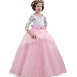 Robes de demoiselle d'honneur pour les enfants de mariage robe de soirée d'anniversaire robe de fille de fleur élégante princesse partie de fuite ? partir de fabricateur