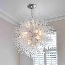 100% Hand Made Blown Glass Chandelier Coloured Art Glass Modern Ceiling Decorative Hotel Decor LED Light Source Chandelier 2020 from fashionartglass,