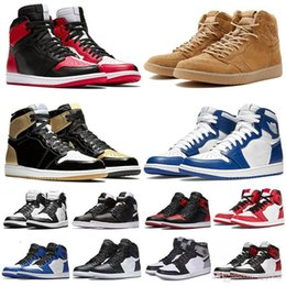 man torch Promo Codes - Mid Classic OG 1 top 3 men basketball shoes 1s Bred Toe Banned Chicago Game Royal Shattered Backboard Pass The Torch Sports sneakers