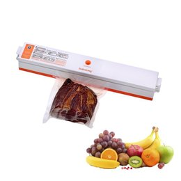 máquinas de alimentos usados Rebajas Máquina de envasado del sellador al vacío de alimentos domésticos Película eléctrica Sellador de alimentos Empaquetadora al vacío para el ahorro de alimentos Bolsas de almacenamiento al vacío KKA7100