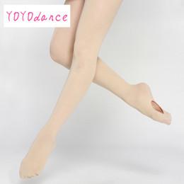 2019 collants de ballet rose Vente en gros de femmes adultes rose Dancewear Ballet doux collants de ballet de danse convertibles en microfibre avec trous à vendre promotion collants de ballet rose
