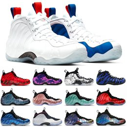 deportes profesionales Rebajas Nike AIR FOAMPOSITE one pro Alternativa Galaxy Legion Green Air Berenjena Zapatos de baloncesto Penny Hardaway Island Green Metallic Gold Red University Red Sport Sneaker 8-13