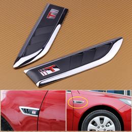 adesivi decalcomania simbolo dell'auto Sconti CITALL 2pcs 3D placcato ABS Plastic Shark Gills Decorato Entrambi i lati Vent Air Flow Parafango Parafango Emblema Simbolo Car Styling