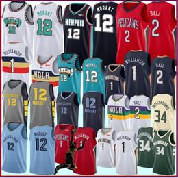 uniformes roxos de basquete Desconto NCAA 1 Zion Williamson College Basketball Jerseys 12 Ja Morant 2 Lonzo Ball 9 RJ Barrett Camisas de basquete S-XXL Stock 2019 2020
