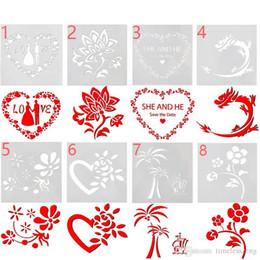 itens de gadgets por atacado Desconto Bolo stencil padaria ferramenta amor casamento flor fondant molde diy ferramenta de cozimento fantasia modelo de impressão de café