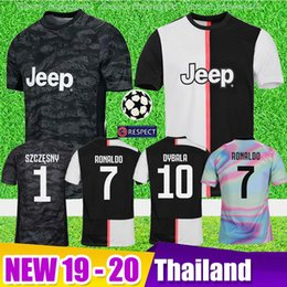 4ba99a7b1c5 half jersey Promo Codes - Thailand New 2019 Juventus RONALDO Soccer Jerseys  champions league Kit 2020