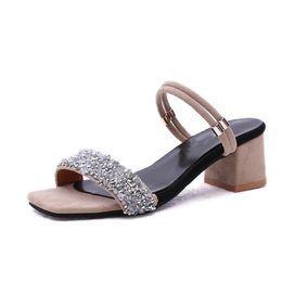 971c5a1567903a Plus Größe 34-44 Hohe Quadratische Fersen Schuhe Damenmode Sandalen Pumps  Sommer Sexy Damen Casual Hochzeit Knöchelriemen günstig größe 44 high heels  ...