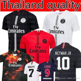 Paris Saint Germain MBAPPE   7 camiseta de fútbol 2019 de calidad  tailandesa Cavani NEYMAR 10 camisetas de fútbol Verratti Di Maria T SILVA  uniformes de ... aeab09c4e9629