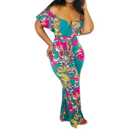 ad1c162fe30 floral overall shorts UK - Off Shoulder Jumpsuit 2019 Fashion Women Clothes Floral  Print overalls for
