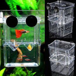 tanques de peixes para animais Desconto Aquarium Fish Breeding Box Pet Fish Tank Guppy Duplo Breeding Criador Criação Hatchery Splits Fish Tank Turtle Reptile Promoção Casa