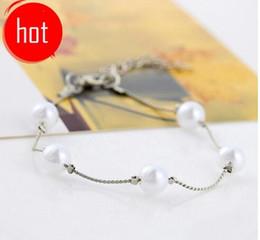 Roupas yiwu on-line-Coreana de roupas de mão de jóias acessórios decorativos versão coreana da encantadora pulseira de pérolas selvagens pulseira Yiwu pequena jóia feminina