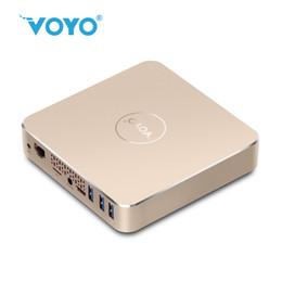 Quad core tv box 4.4 online-VOYO V13 Mini-PC Intel Apllo See N3450 Viererkabel-Kern 4096 * 2304 ROM HDMI WIFI Win10 Fernsehkasten 4G RAM 64G SSD mehrsprachige Mittel-Kasten