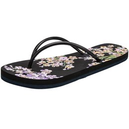2d1651768a660d Discount simple slippers sandals - SAGACE Summer Women s Small Floral Flat  Bottomed Beach Shoes 2019 High