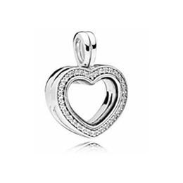 100% plata 925 BLOQUEO FLOTANTE Pandent en forma de corazón Charm Box Zircon Border Can Collect Small Charm Beads 797248CZ desde fabricantes