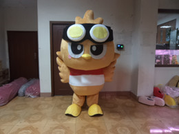 Eule maskottchen online-Professional custom Brown Owl Mascot Costume Character Owlet bird Mascot Clothes Christmas Halloween Party Fancy Dress