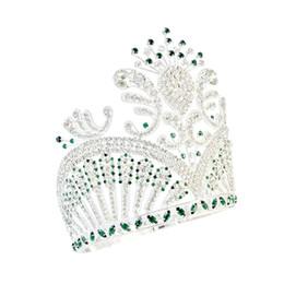 Miss bijoux en Ligne-Pageant Couronnes Lager Réglable Miss USA Couronne Vert Bijoux De Cheveux Parti Bal Spectacles Coiffure G diadèmes Mo236