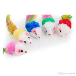 cartoon rats Promo Codes - 5CM Mouse Plush Toys Stuffed&Plus Animals Colorful Realistic Rat Lovely plush doll bouquet gift toy Bag Pendant Home Decoration for children