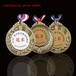 Canada sublimation blanc médailles d'or gagnantes avec corde jeu sports prix récompenses transfert à chaud impression bricolage consommable coutume inclure corde Offre
