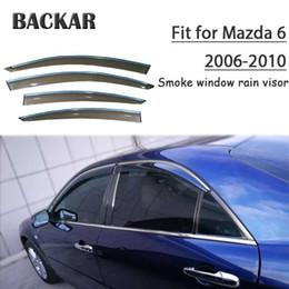 soleiras de porta peugeot Desconto Backar Auto Car do Windows Chuva Vento Sun escudo defletor Visor guarnição Para Mazda 6 2006 2007 2008 2009 2010 Acessórios All Weather