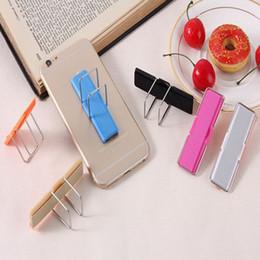 Sling de tabuleiro on-line-Telefone Dedo Universal Grip Kickstand Estilingue Elastic Band Strap Phone Holders Stand Com Suporte Para Telefones Celulares Tablet FFA1860