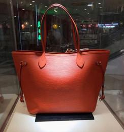 sacchetti di borse di marca del nome Sconti Borsa in pelle Oxidize di alta qualità GM MM Borsa Neverful designer di marca Borsa delle donne Designer borsa di marca 100% vera pelle 32CM
