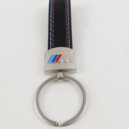 cubierta de la caja clave chevrolet Rebajas Coche Fashoin Metal + Cuero Llavero Llavero Llavero Llavero Llaveros para BMW M Tech M Sport M3 M5 X1 X3 E46 E39 E60 F30 E90 F10 F30 E36