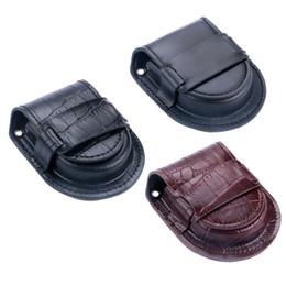 Sehe alte mode online-Old Fashion Taschenuhr PU Ledertasche Gürtel Zubehör Steampunk Vintage Halter Lagerung Geldbörse Taschen für Fob Taschenuhr Geschenke