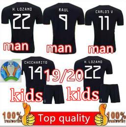 México 2019 2020 H.LOZANO H.HERRERA R.MARQUEZ CHICHARITO A.GUARDADO Camiseta de fútbol 19 20 camiseta de fútbol del equipo nacional infantil XXS-2XL desde fabricantes