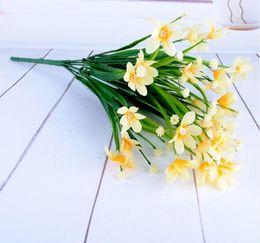 arte del fiore Sconti New Orchid Piccolo fiore finto in vaso Fiore simulato Arrangiamento Soggiorno Decorazione della casa Flower Art WL217