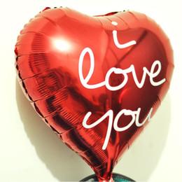 Deutschland Ich liebe dich Folienballons Helium Geburtstagsfeier Brief Party Folie Aluminium rotes Herz Luftballons Hochzeit Dekoration Lieferungen Versorgung