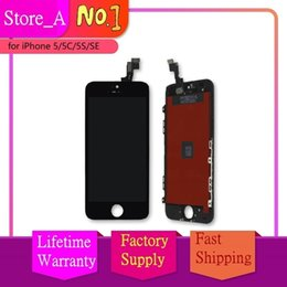 Ecran LCD pour iPhone 5 5S 5C SE Ecran Tactile Digitizer Assembly Remplacement LCD Touch Panel 100% Testé Noir Blanc ? partir de fabricateur
